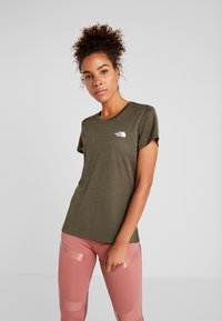 The North Face - WOMENS REAXION CREW - Basic T-shirt - green heather - 0