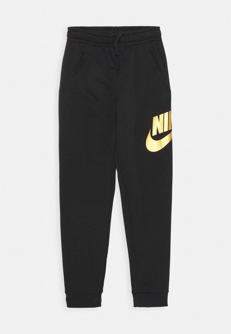 Nike Sportswear - CLUB PANT - Tracksuit bottoms - black/metallic gold