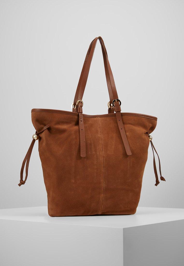 mint&berry - LEATHER - Shopping bag - cognac