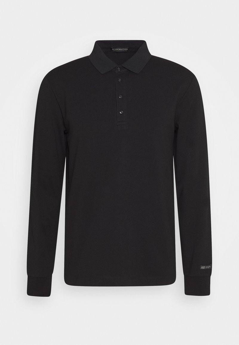 Scotch & Soda - CHIC STRETCH LONGSLEEVE - Polo shirt - black