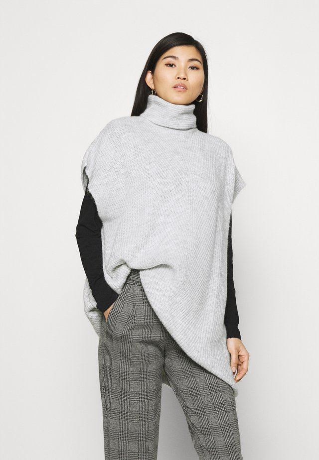 HIGH NECK TABARD - Print T-shirt - grey