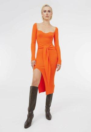 Gebreide jurk - orange
