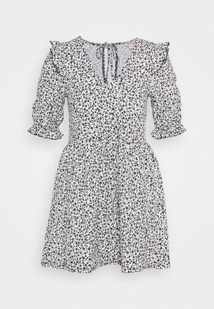 RUFFLE TEA DRESS - Korte jurk - multi