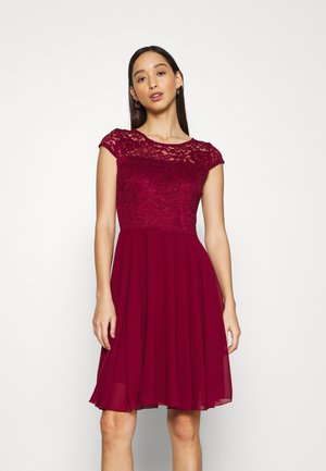 PEYTON SKATER DRESS - Cocktail dress / Party dress - wine