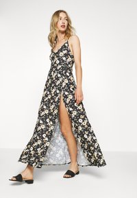 Even&Odd - Maxi-jurk - black/yellow - 4