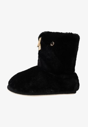 COTTAGE MATE ZIP - Slippers - black