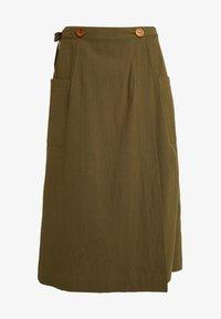 Louche - ARI - A-line skirt - khaki - 3