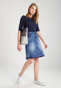 Cream - A-line skirt - rich blue denim - 1