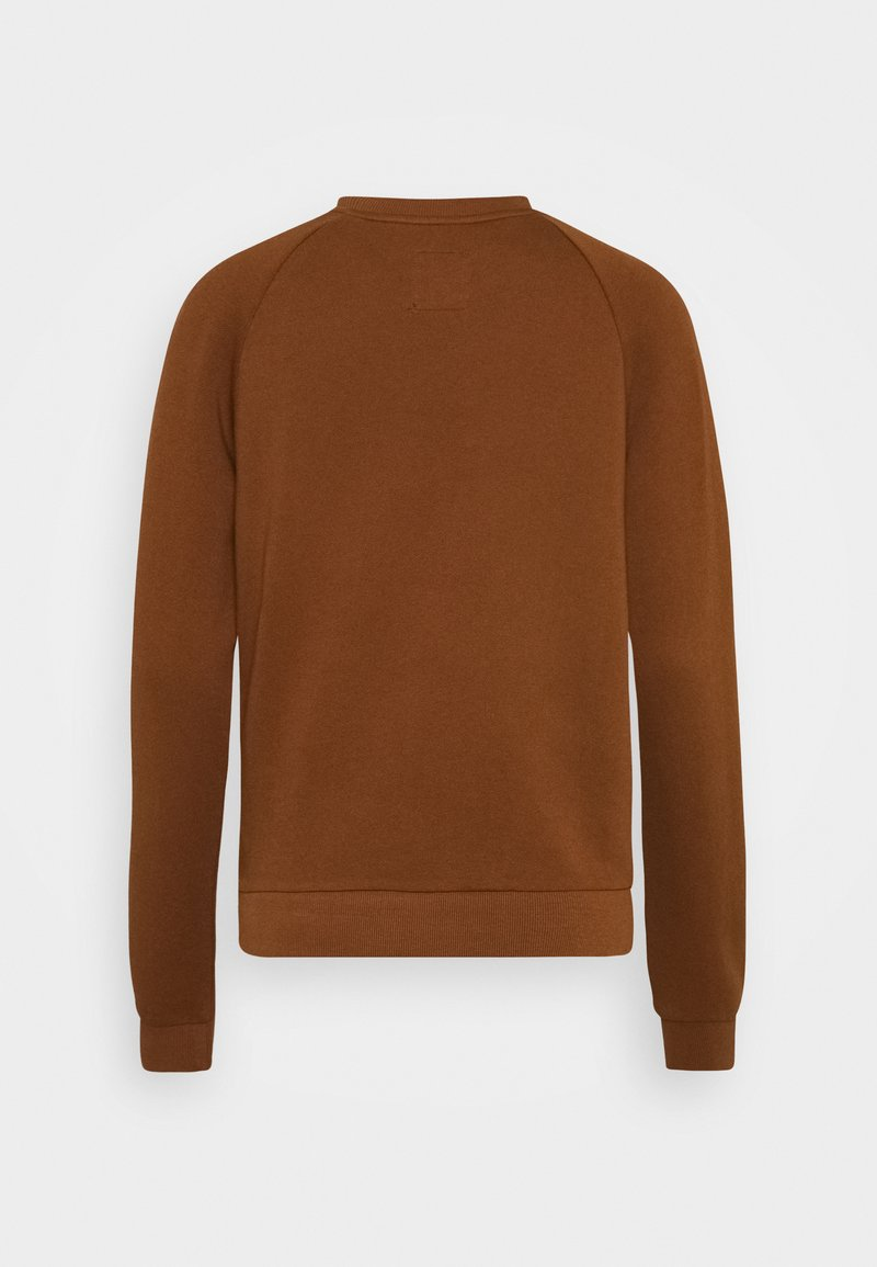 Marc O'Polo LONG SLEEVE ROUND NECK - Sweatshirt - chestnut brown/braun osGyK5