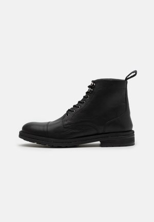 WOLF TOE CAP - Lace-up ankle boots - thunder black