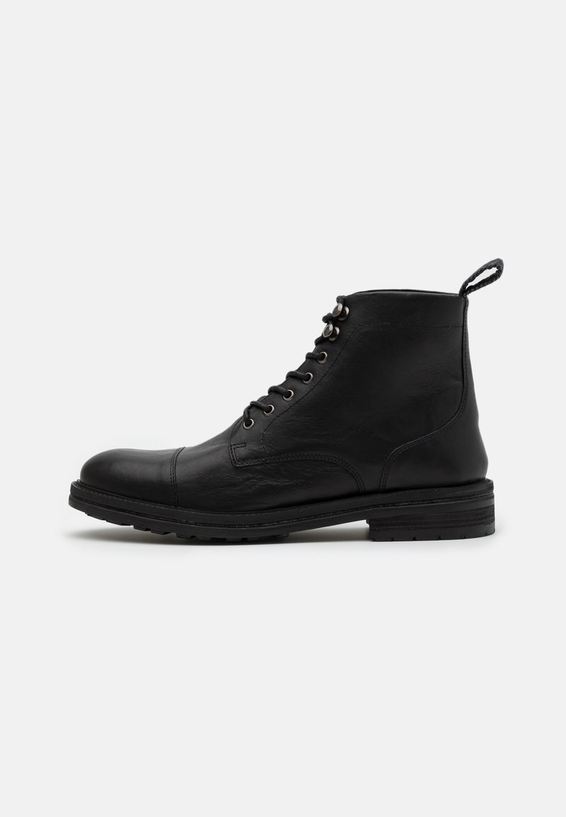 Walk London - WOLF TOE CAP - Lace-up ankle boots - thunder black