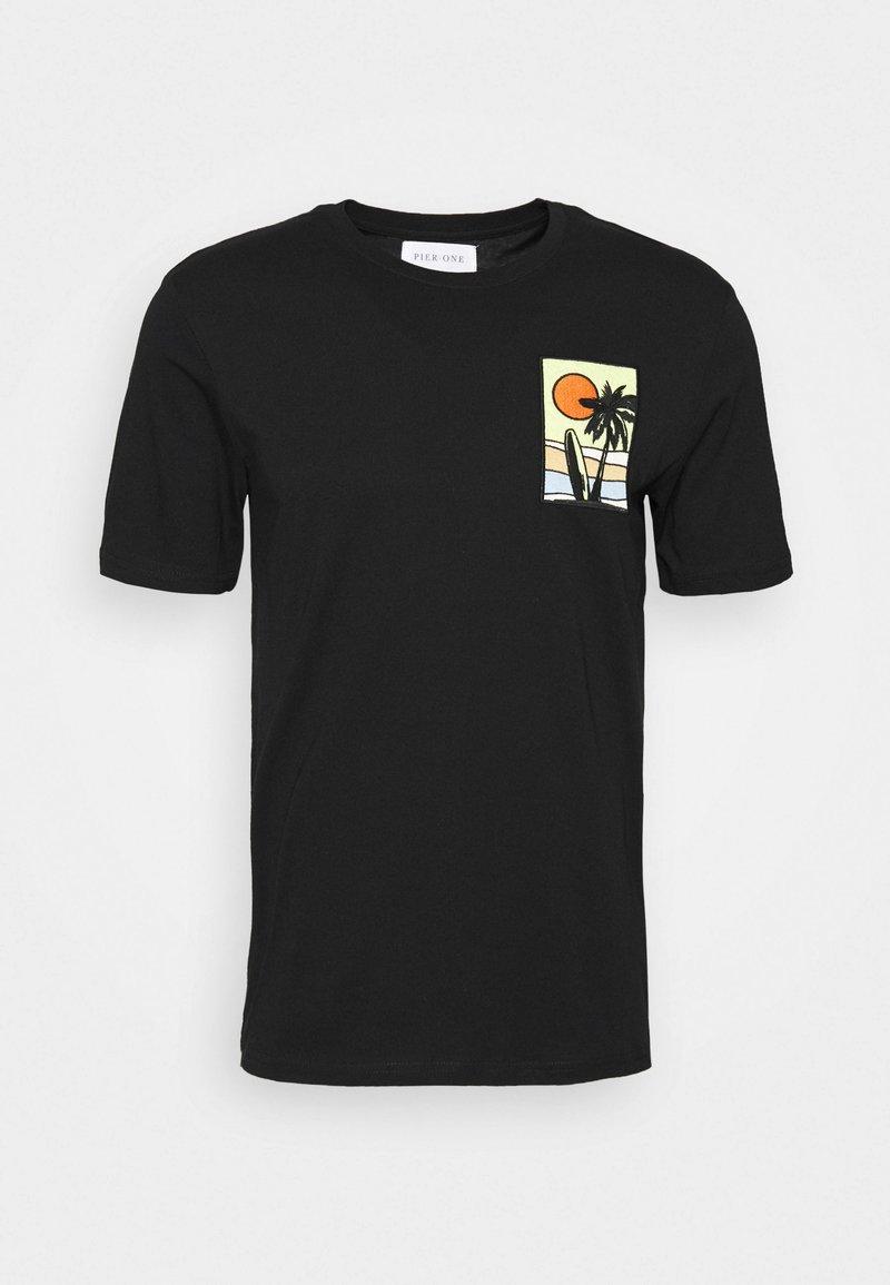 Pier One T-Shirt print - black/schwarz 71VxCp