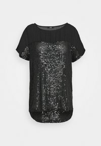Wallis - SEQUIN TEE - Print T-shirt - black - 0