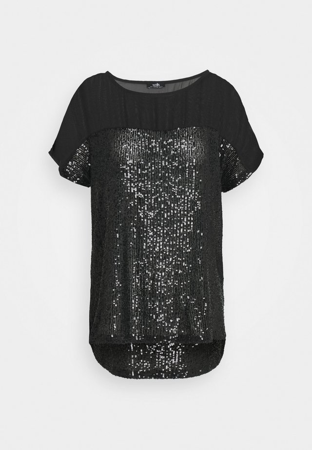 SEQUIN TEE - T-shirts med print - black