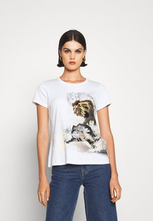 Print T-shirt - sandy beige