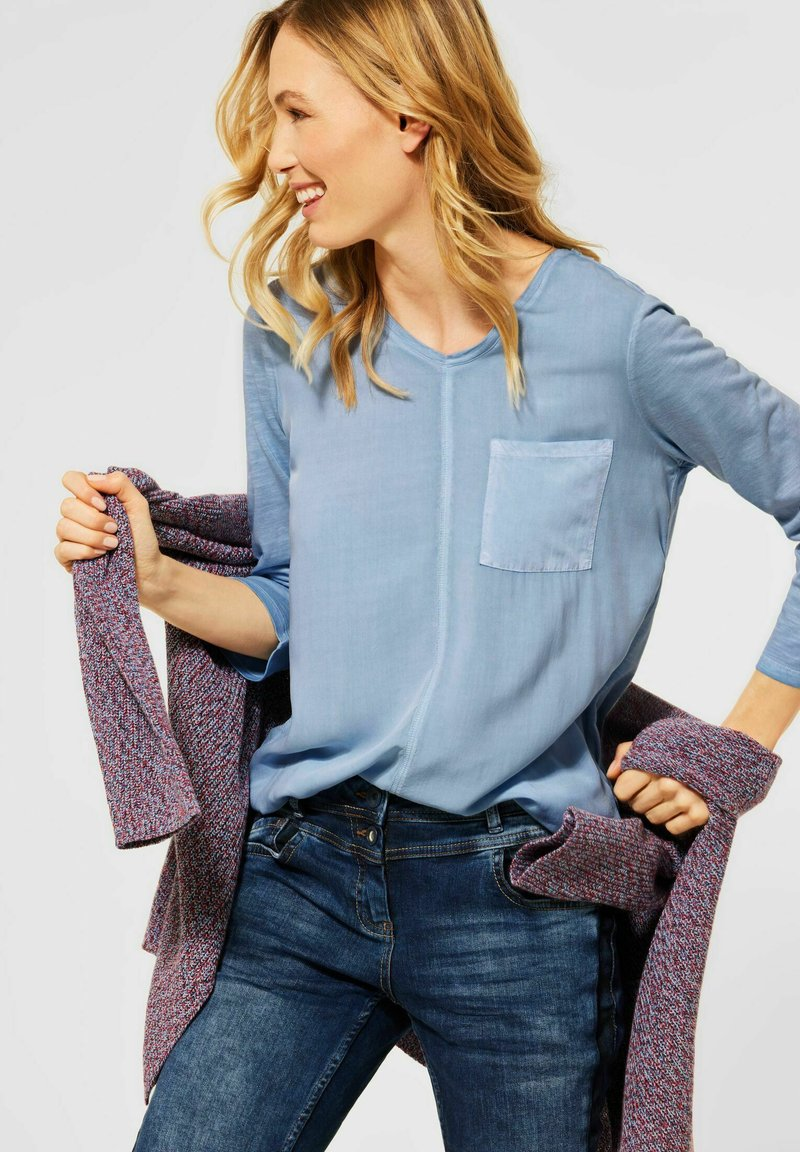 Cecil - Long sleeved top - blau