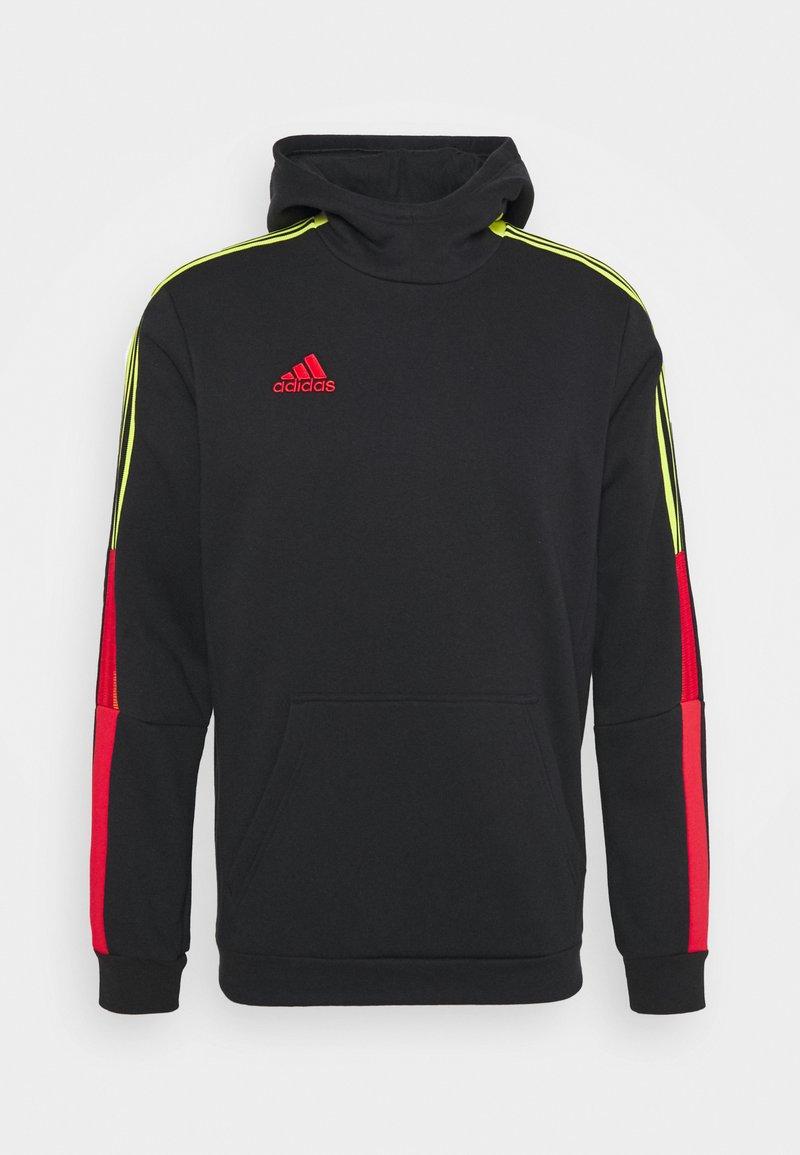 adidas Performance - TIRO HOOD - Jersey con capucha - black