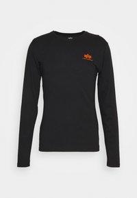 Alpha Industries - SMALL LOGO  - Long sleeved top - black/neon orange - 4