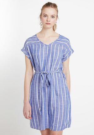 JDYJANINE DRESS - Day dress - blue/white
