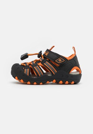 CRAB UNISEX - Vaellussandaalit - black/orange/charcoal