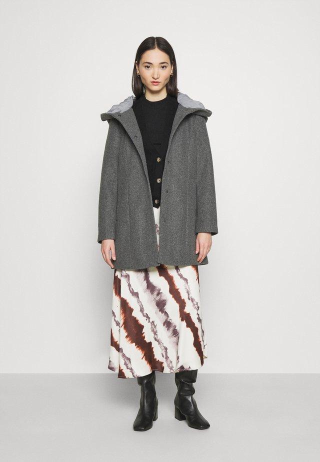 VICANA HOOD  - Abrigo corto - medium grey melange