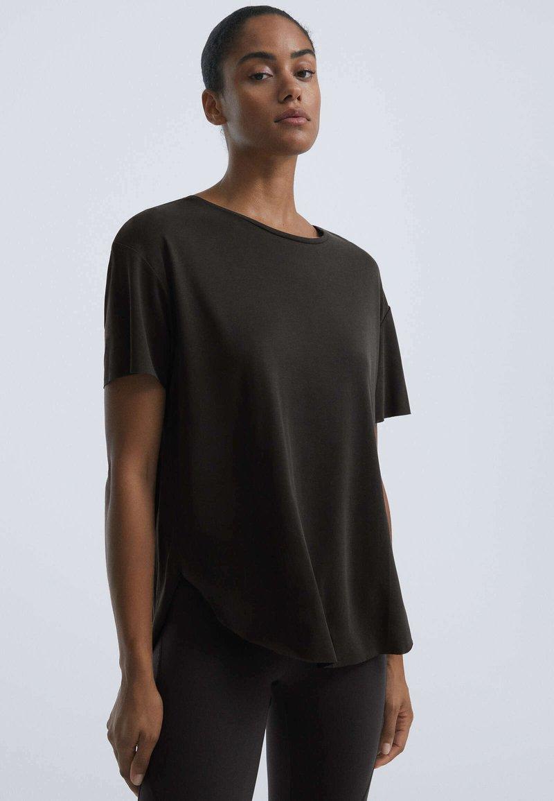 OYSHO - T-shirt basique - black