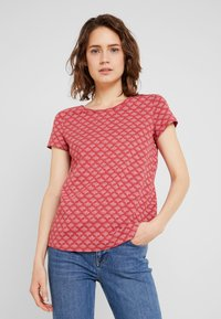 Esprit - TEE - Print T-shirt - dark red - 0