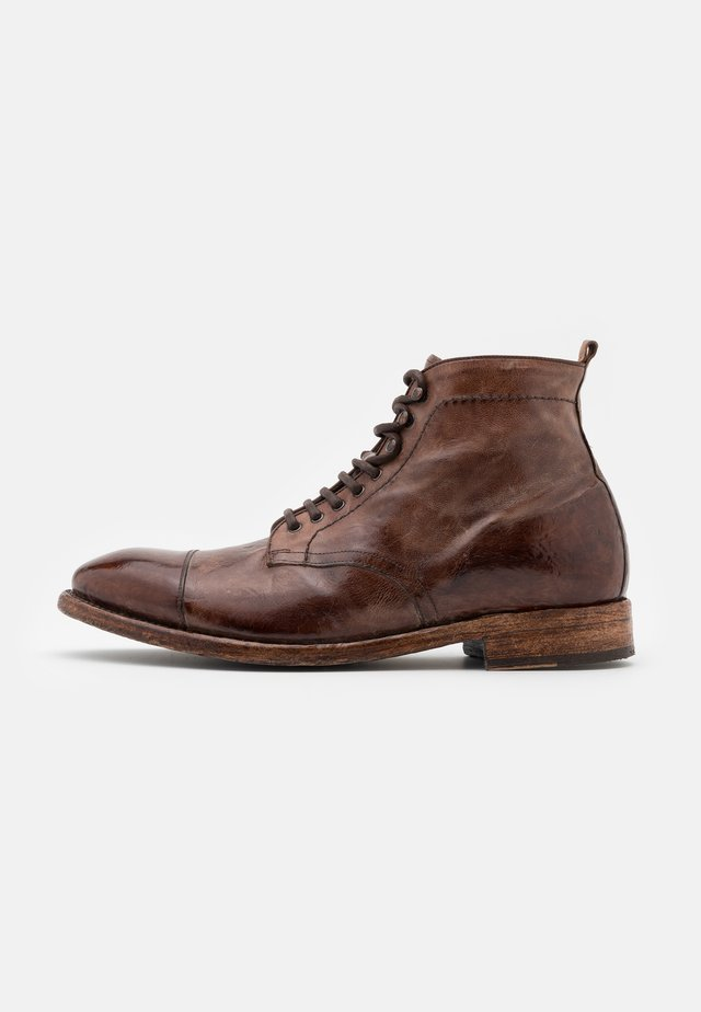 Lace-up ankle boots - todi washed cognac