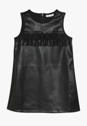 FAKE LEATHER DRESS - Sukienka letnia - pirate black