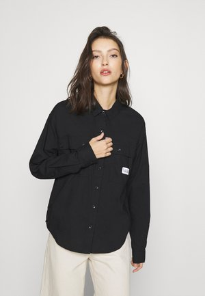 MAKE ME YOUR OWN - Button-down blouse - black