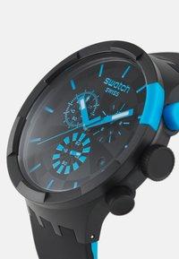 Swatch - RACING POWER - Chronograph watch - black/blue - 3