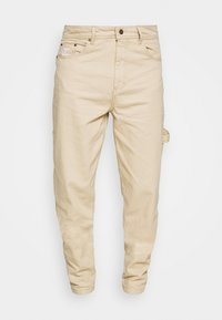 Karl Kani - RINSE BLOCK PANTS - Relaxed fit jeans - beige - 4