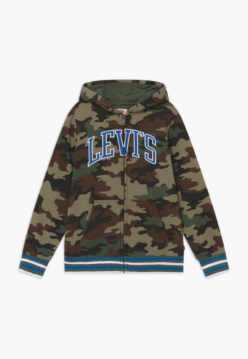 Levi's® - STRIPED FULL ZIP HOOD - Tröja med dragkedja - khaki