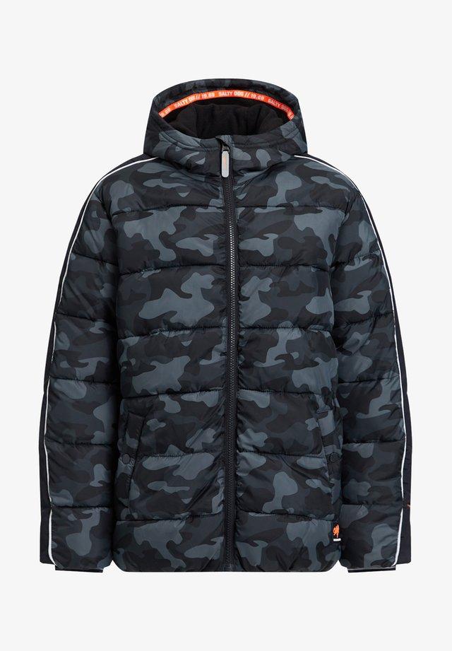 MIT CAMOUFLAGEPRINT - Winter jacket - dark grey