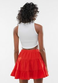 Bershka - A-line skirt - red - 2