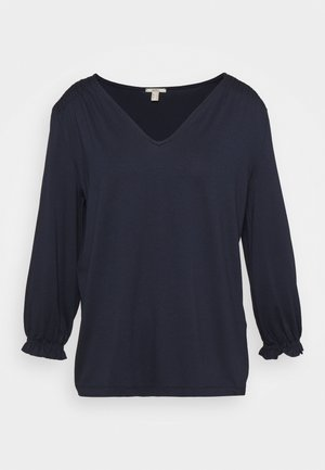 SMOCK TEE - Long sleeved top - navy
