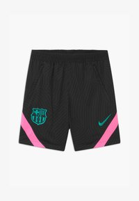 Nike Performance - FC BARCELONA UNISEX - Sports shorts - black/pink beam/new green - 0