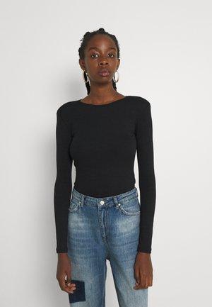 ONLTHEA SHOULDER BODY - Maglietta a manica lunga - black