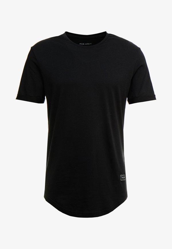 Pier One T-shirt basic - black/czarny Odzież Męska PWRQ