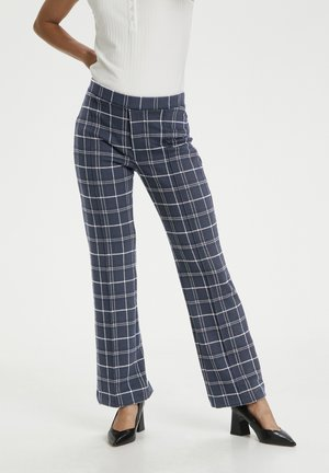 PONTAS - Trousers - check, navy