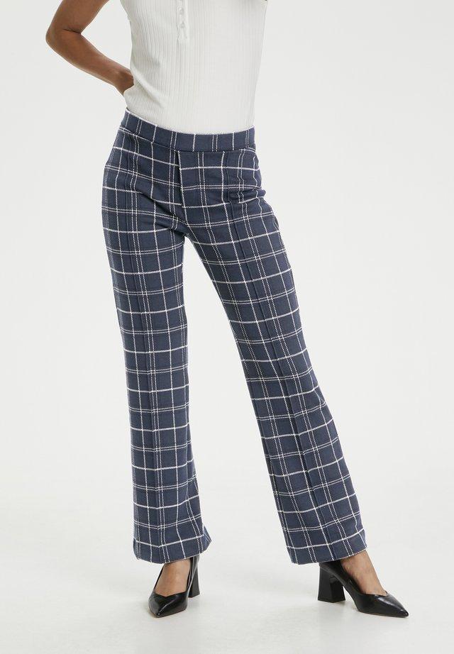 PONTAS - Pantalon classique - check, navy