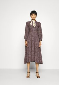 Closet - PUFF SLEEVE A-LINE DRESS - Day dress - purple - 1