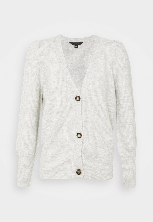 BUTTON CARDIGAN - Kardigan - grey