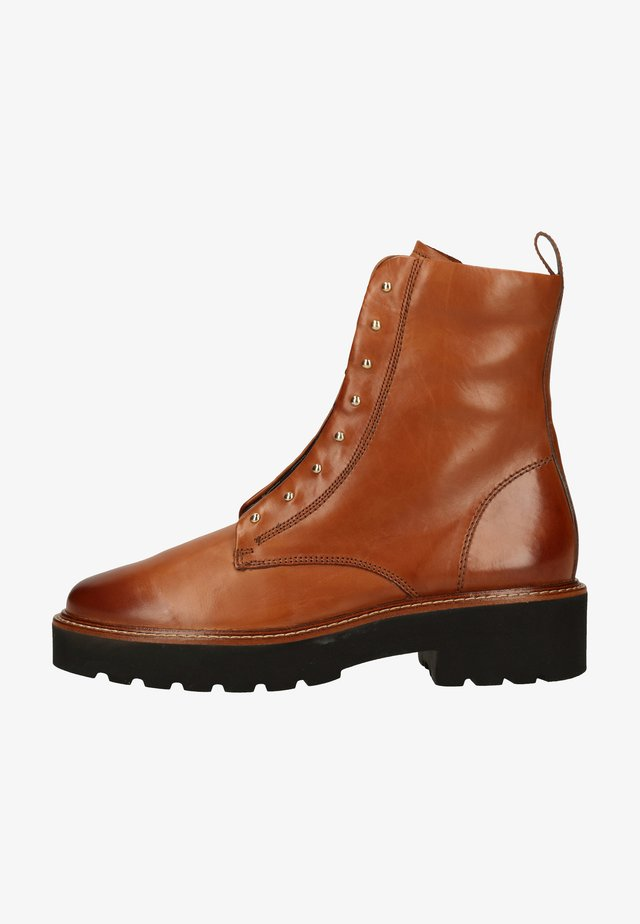 Lace-up ankle boots - cognac-braun 007