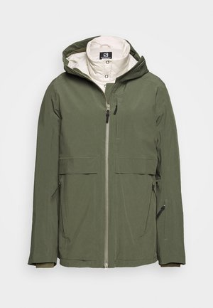 OUTLAW 3IN1  - Ski jacket - olive night/rainy day