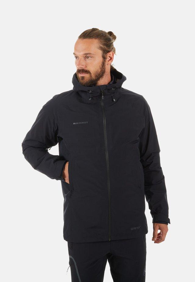 Down jacket - black-black