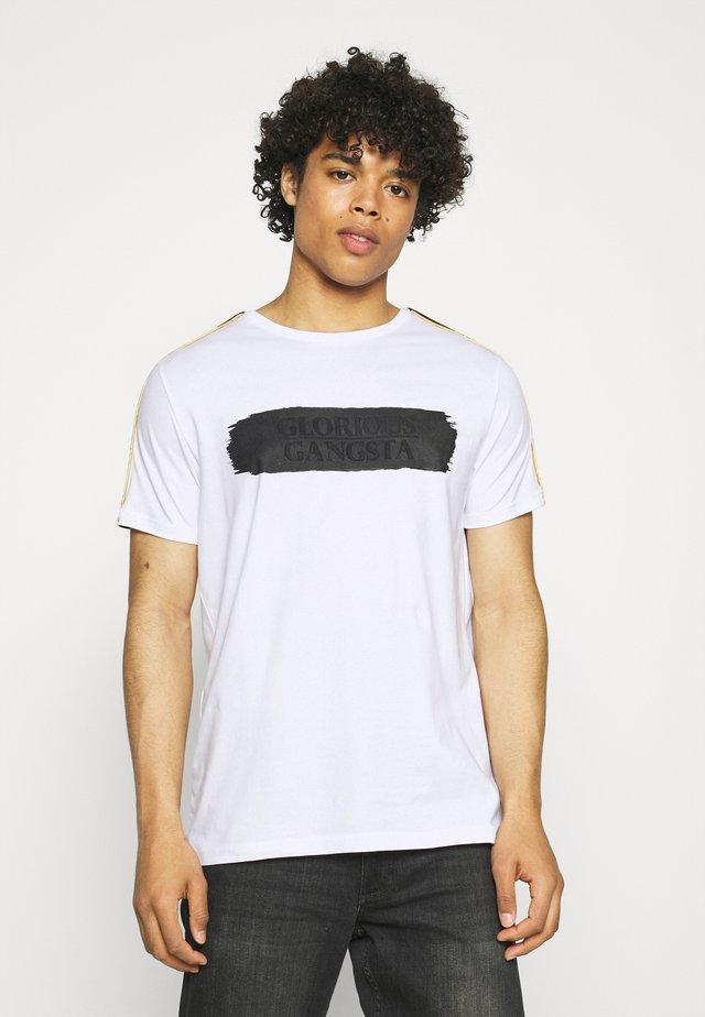EMILIO TEE - T-shirt imprimé - optic white