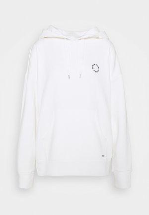 BOLD WORDING HOODY - Sweatshirt - off white