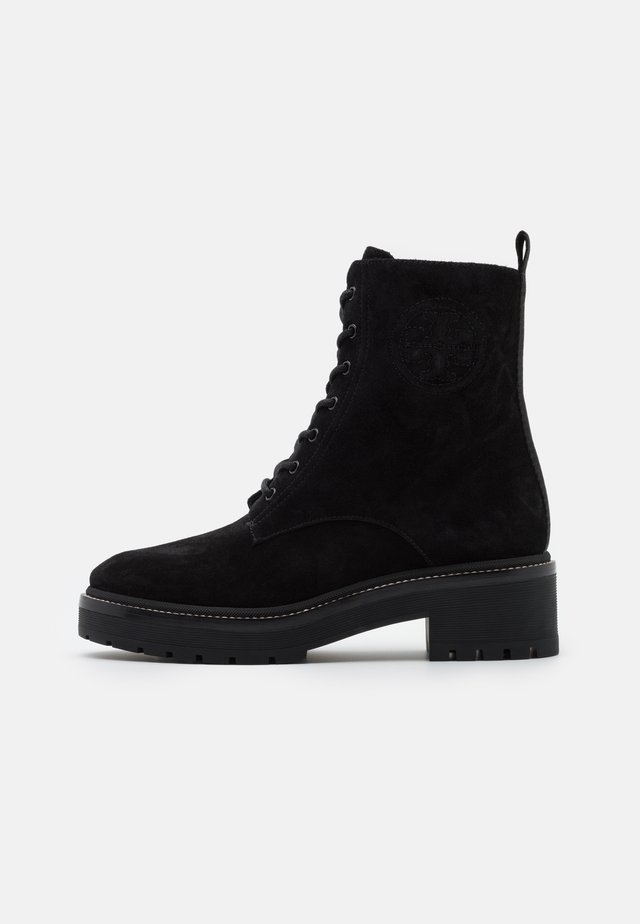 MILLER LUG SOLE BOOTIE - Enkellaarsjes met plateauzool - perfect black