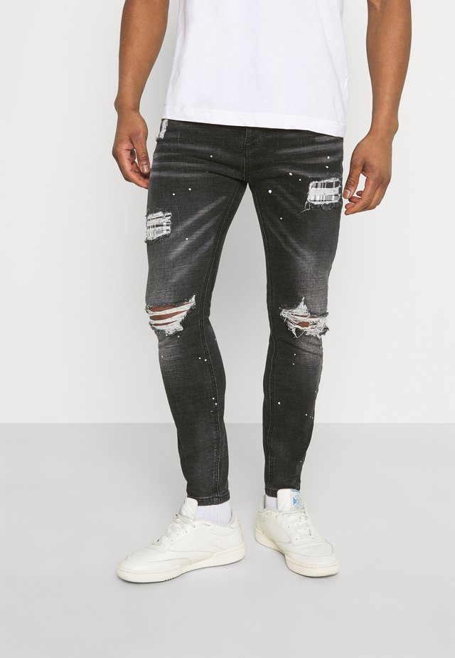 INWOOD CARROT - Jeans slim fit - jet black